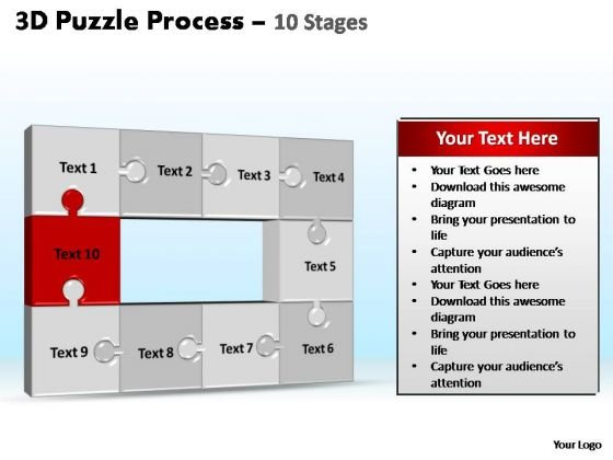 PowerPoint Layouts Growth Puzzle Process Ppt Designs