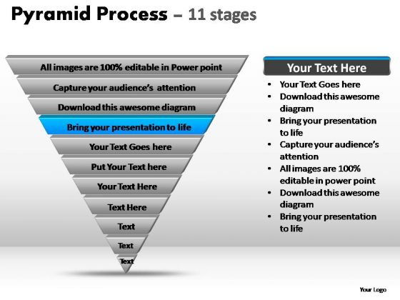 PowerPoint Layouts Growth Pyramid Process Ppt Presentation