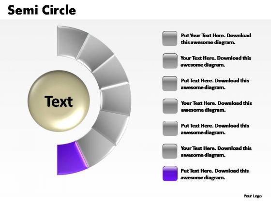 PowerPoint Layouts Growth Semi Circle Ppt Design Slides