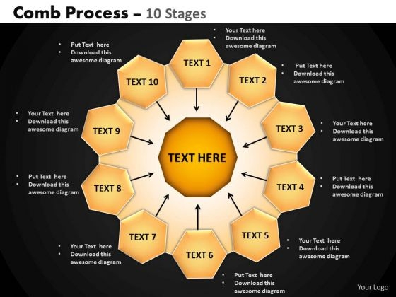 PowerPoint Layouts Image Hub And Spokes Process Ppt Template