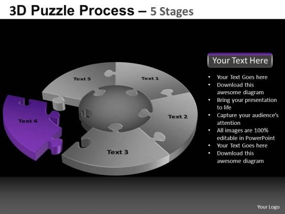 PowerPoint Layouts Image Pie Chart Puzzle Process Ppt Slides