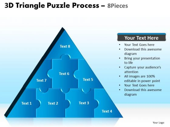 PowerPoint Layouts Image Triangle Puzzle Ppt Backgrounds