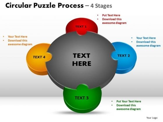 PowerPoint Layouts Leadership Circular Puzzle Ppt Theme