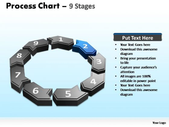 PowerPoint Layouts Leadership Process Chart Ppt Slides