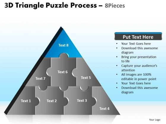 PowerPoint Layouts Leadership Triangle Puzzle Ppt Theme