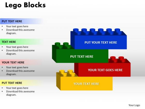 PowerPoint Layouts Lego Blocks Business Ppt Themes