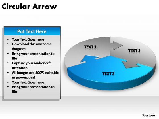 PowerPoint Layouts Marketing Circular Arrow Ppt Designs