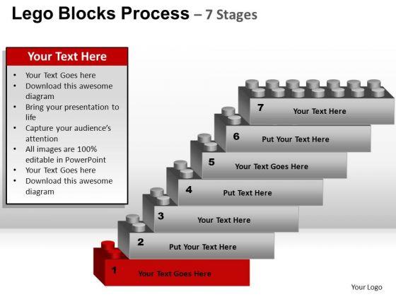 PowerPoint Layouts Marketing Lego Blocks Ppt Process