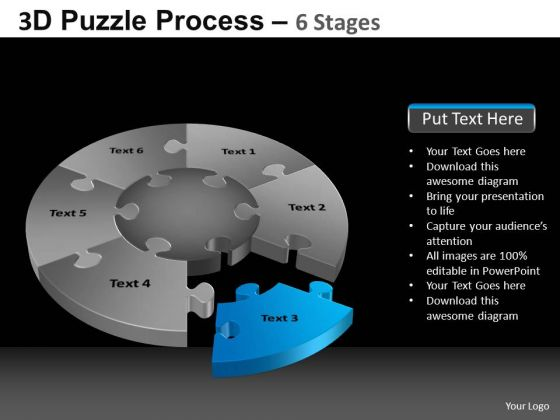 PowerPoint Layouts Marketing Pie Chart Puzzle Process Ppt Process