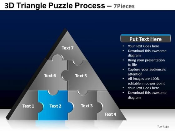 PowerPoint Layouts Marketing Triangle Puzzle Ppt Presentation