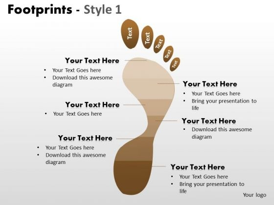 PowerPoint Layouts Process Footprints Ppt Presentation