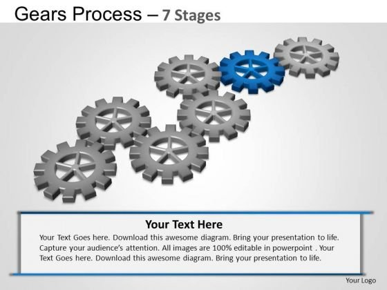 PowerPoint Layouts Process Gears Process Ppt Slide