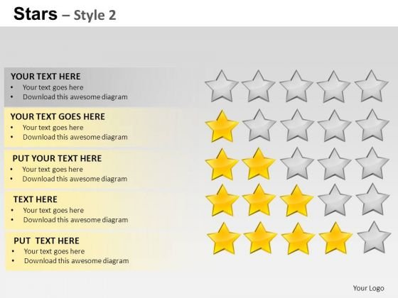 PowerPoint Layouts Process Stars Ppt Templates