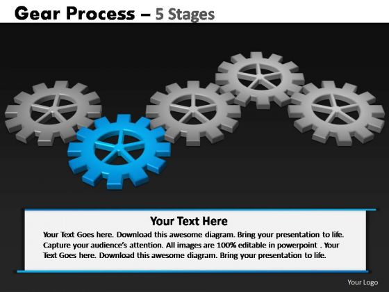 PowerPoint Layouts Sales Gears Process Ppt Design Slides