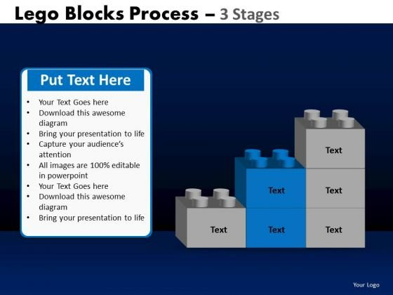 PowerPoint Layouts Sales Lego Blocks Ppt Themes