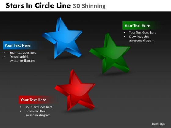 PowerPoint Layouts Sales Stars In Circle Ppt Presentation