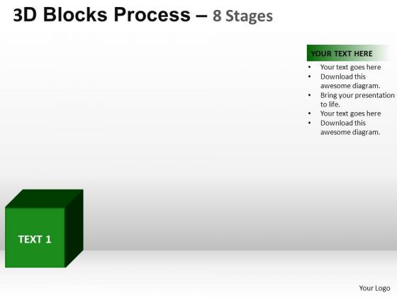 PowerPoint Layouts Strategy Blocks Process Ppt Template