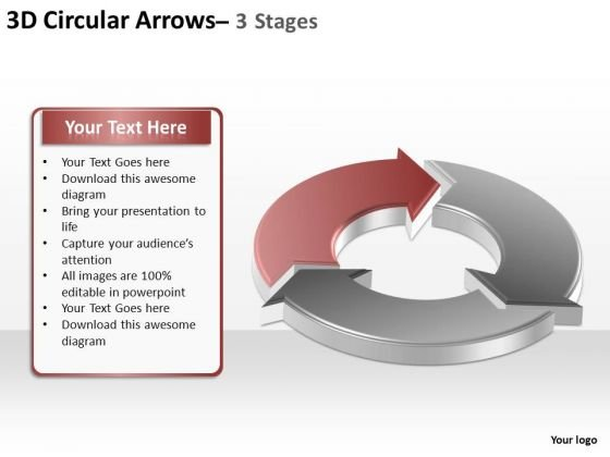 PowerPoint Layouts Strategy Circular Arrows Ppt Theme