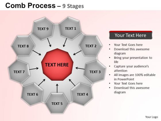PowerPoint Layouts Strategy Circular Flow Diagram Ppt Slides