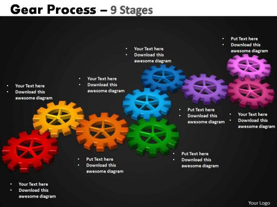 PowerPoint Layouts Strategy Gears Process Ppt Slide Designs