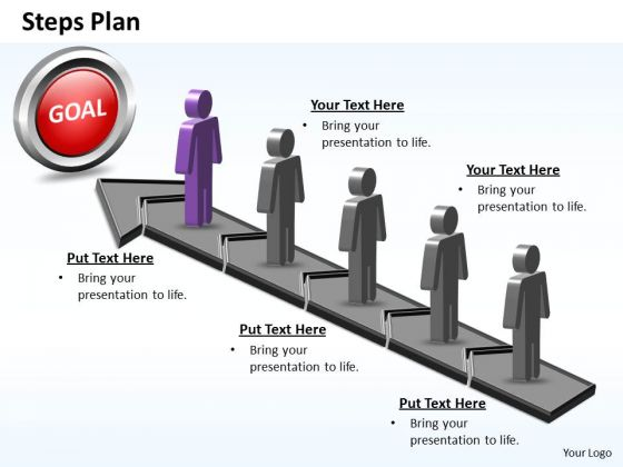 PowerPoint Layouts Strategy Steps Plan 5 Stages Style 5 Ppt Designs