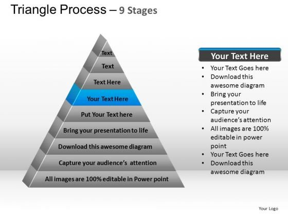 PowerPoint Layouts Strategy Triangle Process Ppt Design