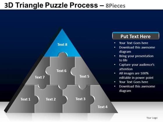 PowerPoint Layouts Strategy Triangle Puzzle Ppt Themes