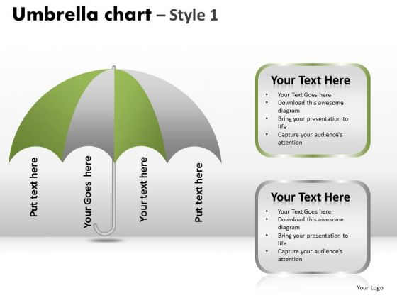 PowerPoint Layouts Strategy Umbrella Chart Ppt Process