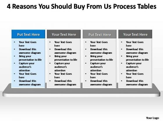 PowerPoint Layouts Success Process Tables Ppt Slides