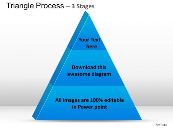 PowerPoint Layouts Success Triangle Process Ppt Themes