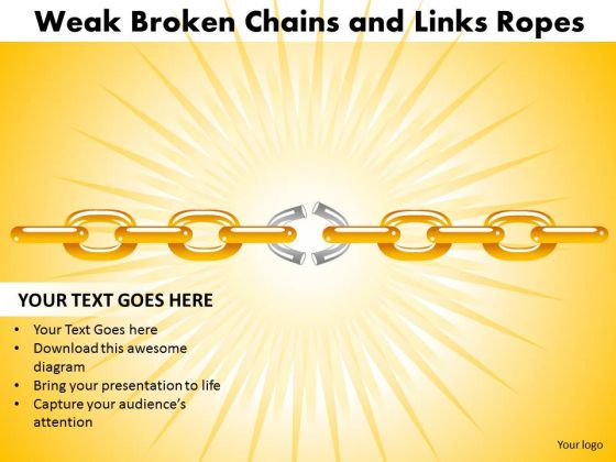 PowerPoint Layouts Success Weak Broken Chains Ppt Themes