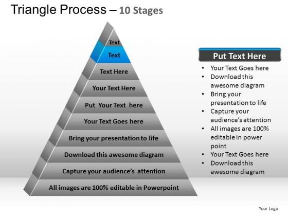 PowerPoint Layouts Teamwork Triangle Process Ppt Template
