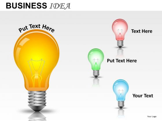 PowerPoint Lightbulb Graphics Clipart Ppt Design Slides