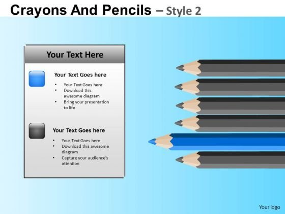 PowerPoint Pencils Education School Ppt Theme