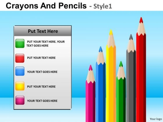 powerpoint pens pencils education school ppt theme powerpoint
