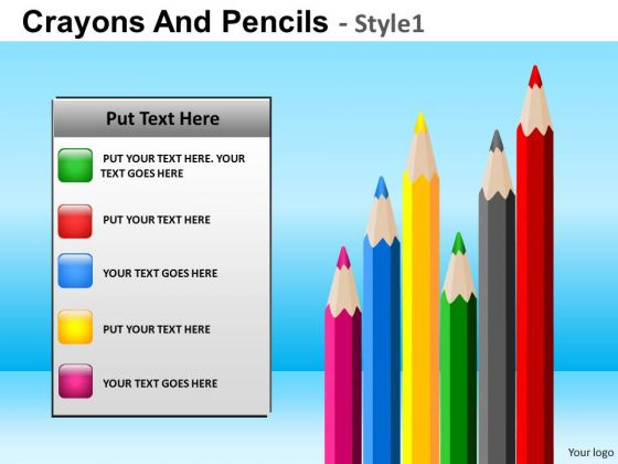 PowerPoint Pens Pencils Education School Ppt Theme