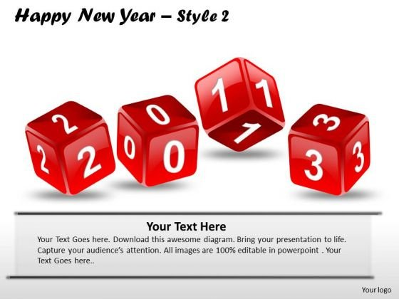 PowerPoint Presentation 2013 Sales Happy New Year Ppt Themes