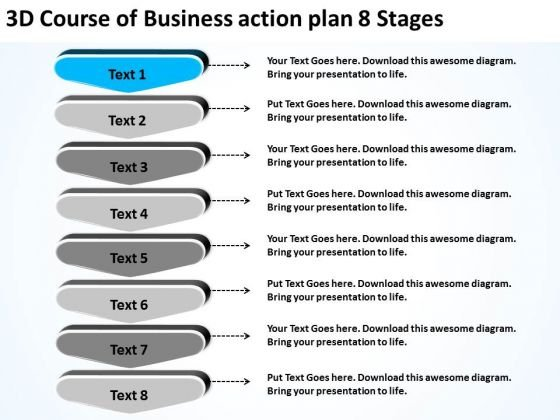 Powerpoint Presentation Action Plan  Stages Restaurant Business