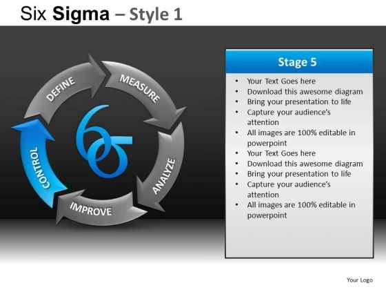 Dmaic PowerPoint Templates Slides And Graphics