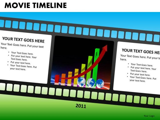PowerPoint Presentation Business Film Strip Movie Timeline Ppt Slides