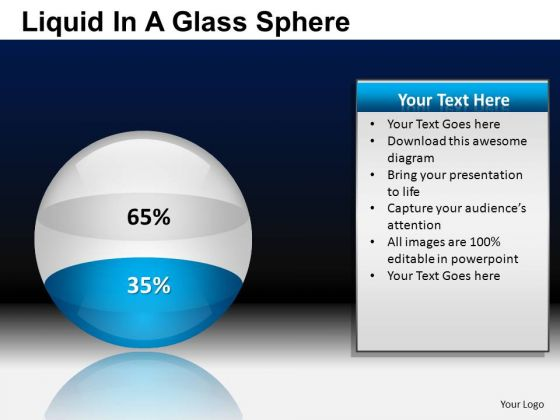 PowerPoint Presentation Business Strategy Liquid In A Ball Sphere Ppt Templates