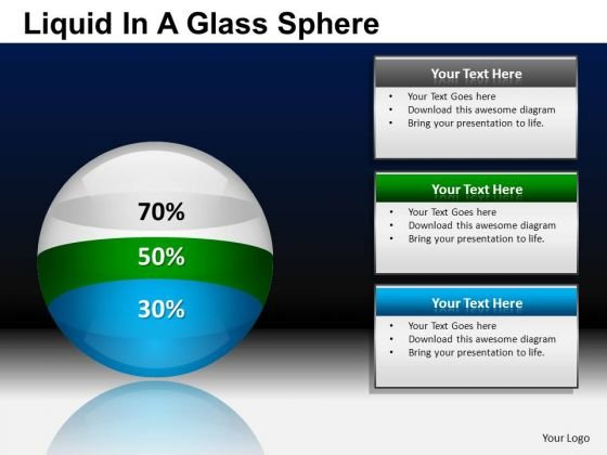 PowerPoint Presentation Business Success Liquid In A Ball Sphere Ppt Templates