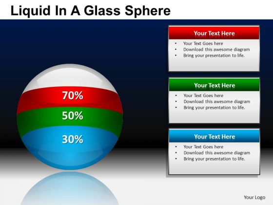 PowerPoint Presentation Business Success Liquid In A Balls Sphere Ppt Templates