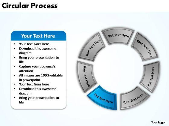 PowerPoint Presentation Chart Circular Process Ppt Slide