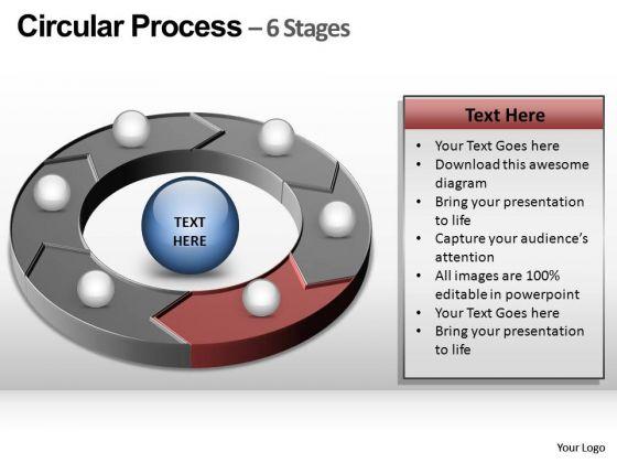 PowerPoint Presentation Chart Circular Process Ppt Templates