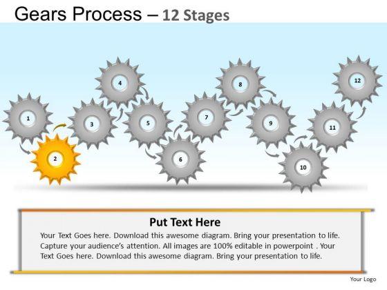 PowerPoint Presentation Chart Gears Ppt Slide Designs