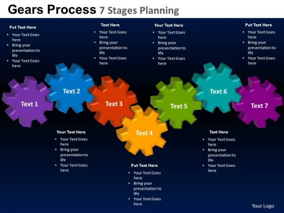 PowerPoint Presentation Chart Gears Process Ppt Slide