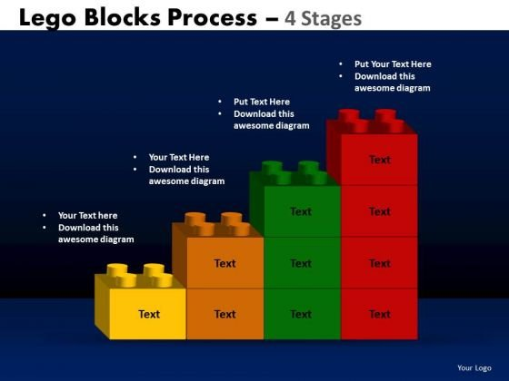 PowerPoint Presentation Chart Lego Blocks Ppt Backgrounds