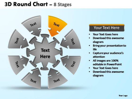PowerPoint Presentation Chart Pie Chart With Arrows Ppt Backgrounds