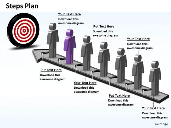 PowerPoint Presentation Chart Steps Plan 7 Stages Style 6 Ppt Slide